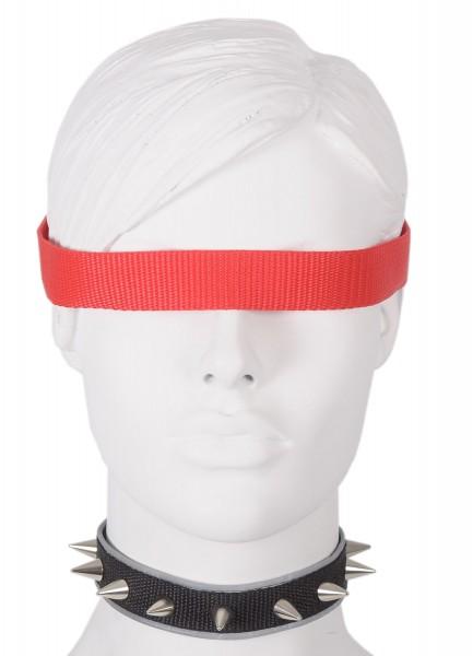 Sale -50% Halsband mit 13mm Nieten und reflektierender Borte