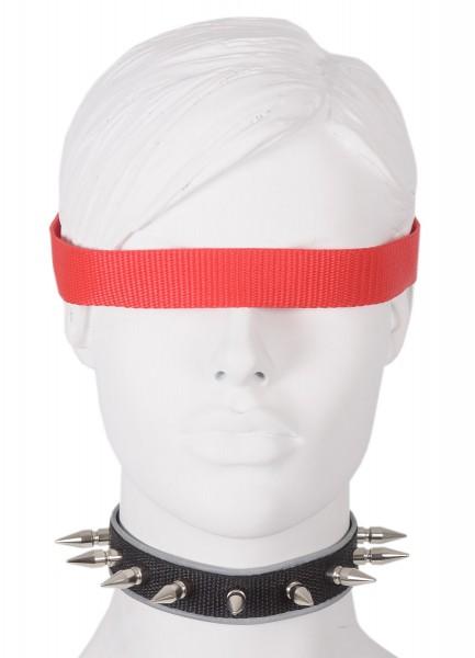 Sale -50% Halsband mit 25mm Nieten und reflektierender Borte