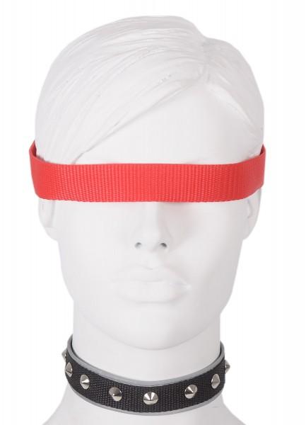 Sale -50% Halsband mit Flachnieten und reflektierender Borte