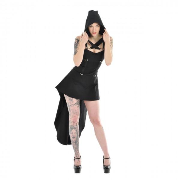 Sale -50% Gothic Kleid Argentum mit D-Ringen und Schleppe