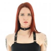 Gothic Halsband mit einer kleinen Schnalle schwarz