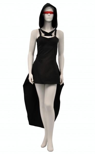 """Sale -50% Gothic-Kleid """"Argentum"""" mit Schleppe"""