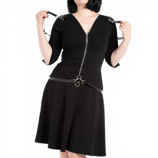 Gothic Kleid Platinum