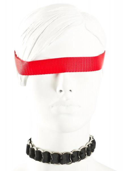 Halsband mit verwebten Ringen